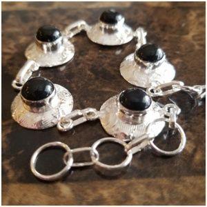 """Jewelry - Really cute Black Onyx Bracelet 8"""" long"""